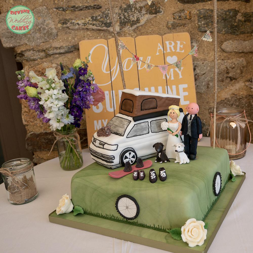 a VW T5 campervan wedding cake