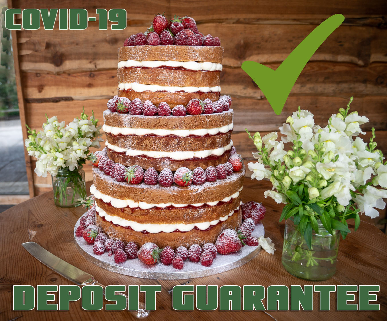 covid-19 wedding cake deposit guarantee